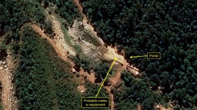 38노스가 배포하는 북한 풍계리 핵실험장 위성사진. 이 것이 대부분의 사람들이 접하는 풍계리의 모습이다