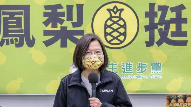The President of Taiwan, Tsai Ing-wen.
