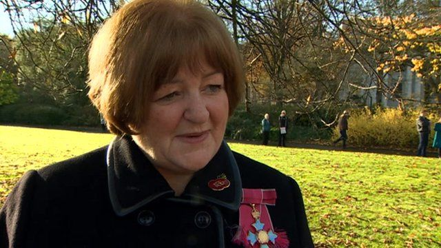 Tina Donnelly, a retired colonel with the 203 Welsh Field Hospital and now director of the Royal College of Nursing Wales