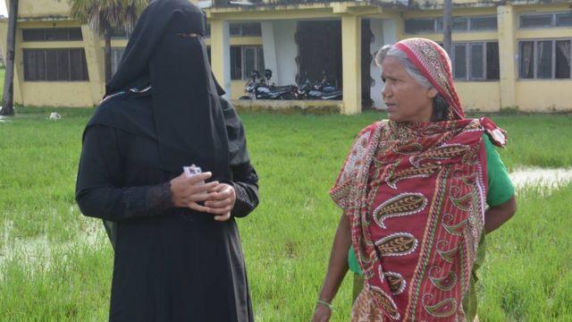 वीरगञ्जकी मुस्लिम महिला मतदाता
