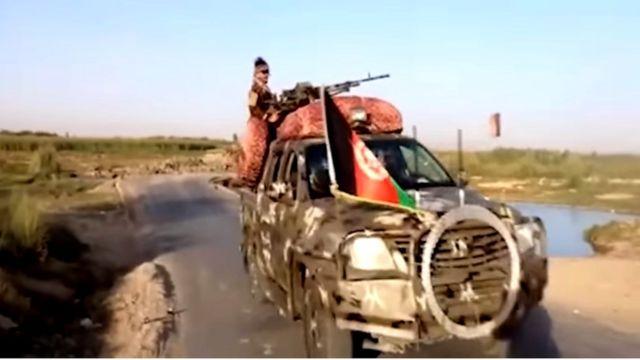 خودرو ارتش افغانستان در هلمند