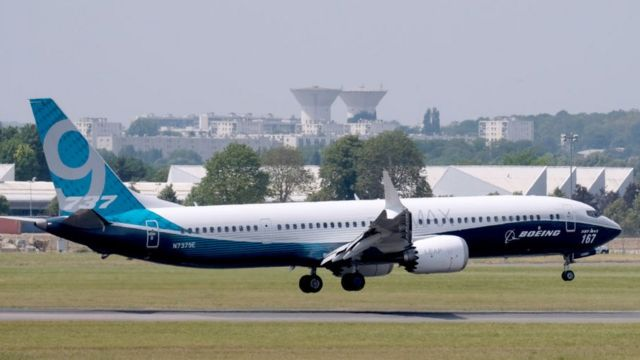 Boeing 737 MAX на Парижском авиашоу в 2017 году