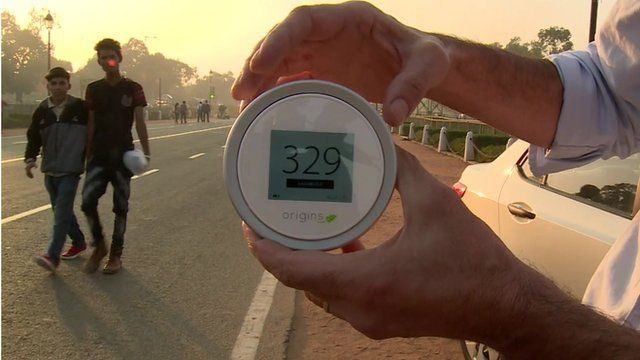 Testing Indian capital's dangerous smog levels