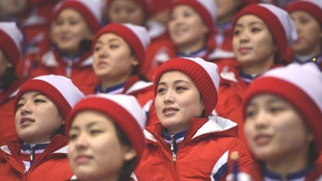 ઉત્તર કોરિયાની ચીયરલીડર્સ