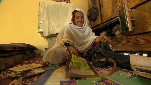 Woman who lost her children in the 2005 earthquake