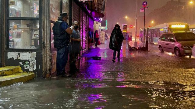 Lluvias en Nueva York