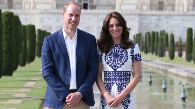 Duke and Duchess of Cambridge at the Taj Mahal