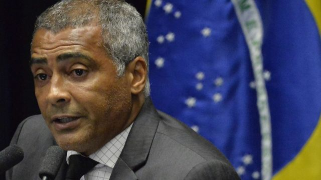 Romario como senador.