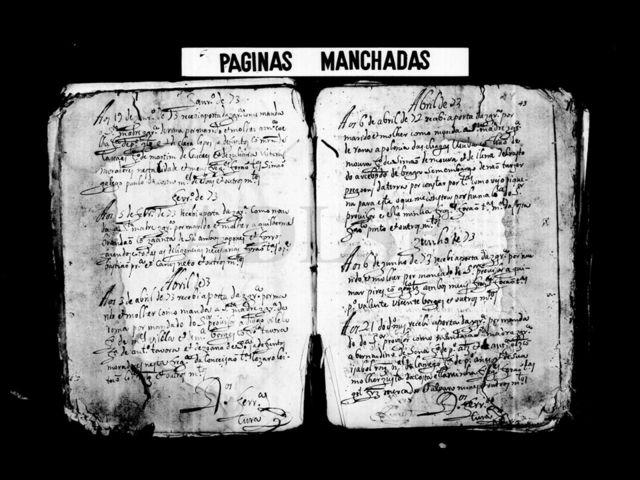 Registro do livro de casamento da igreja Conceição em Lisboa, de 1573. Documento traz o nome de Jacinta de Sá Brandão, a primeira mulher japonesa a viver na região que se tem conhecimento