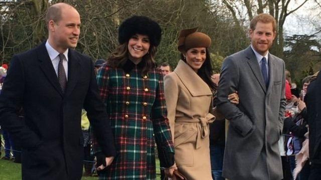 มแกน มาร์เคิล ร่วมงานวันคริสต์มาสร่วมกับสมาชิกราชวงศ์อังกฤษ