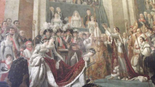 لوحة تتويج بونابرت إمبراطور فرنسا