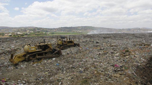 La décharge d'Andralanitra s'étend sur 20 hectares.