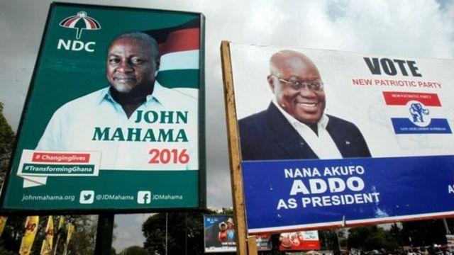 John Mahama et Nana Akufo-Addo
