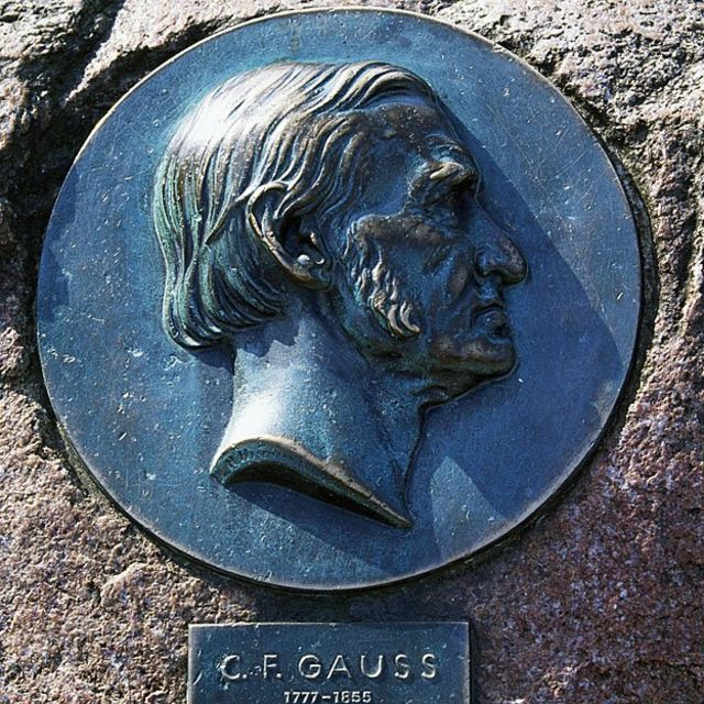 Placa conmemoratoria de Gauss