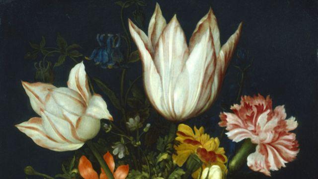 Una pintura de Ambrosius Bosschaert del siglo XVII