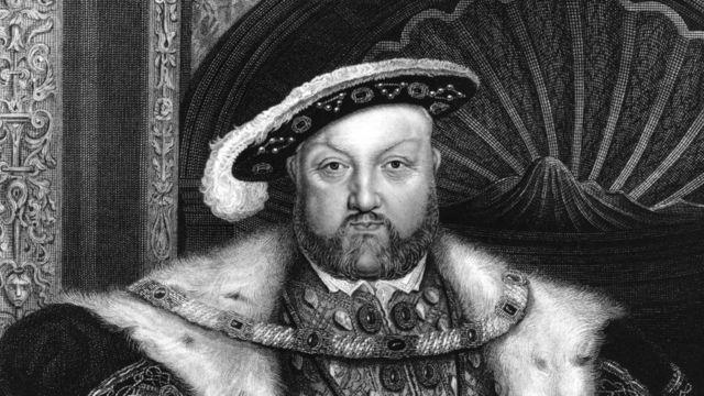 Генрих VIII, гравюра с портрета работы Гольбейна