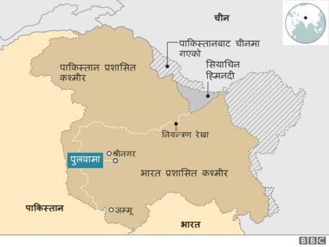 कश्मीरको नक्शा