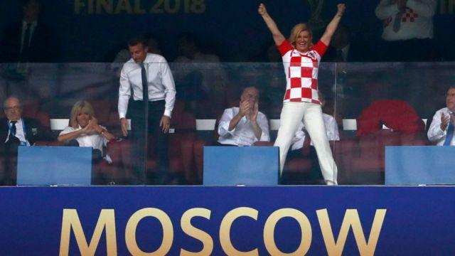 Na Presido Kolinda Grabar-Kitarovic evribodi dey see as di woman behind Croatia men football team success to qualify for World Cup finals for di first time.