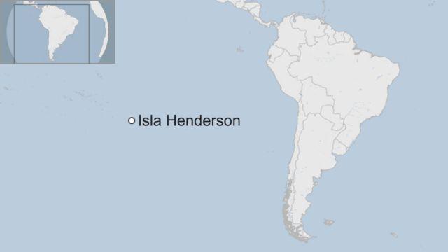 Mapa de la Isla Henderson