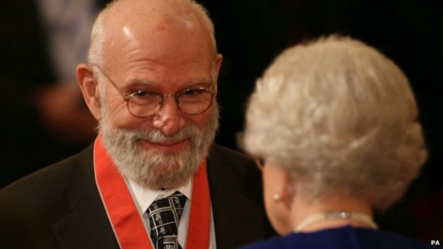 Oliver Sacks receiving CBE from the Queen