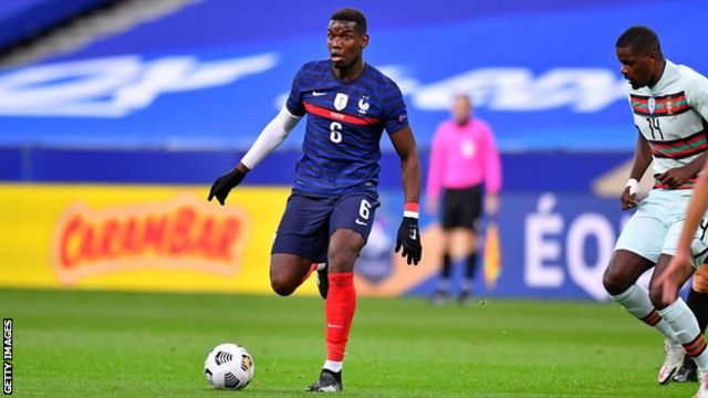 Paul Pogba dey play for France against Portugal