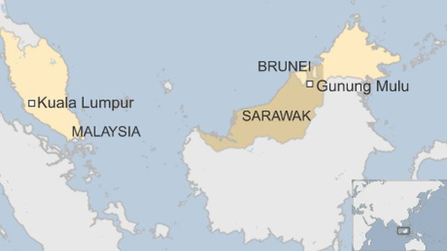 Map showing Sarawak, Malaysia