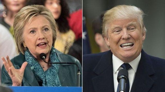 Umupfasoni Clinton na Trump