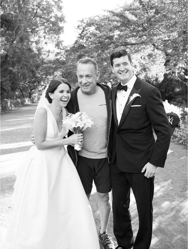 When Tom Hanks runs into your wedding photos