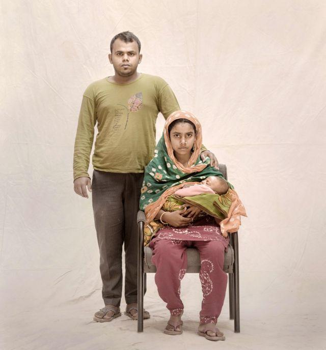 Keya, her husband Jahangir and son Rahim