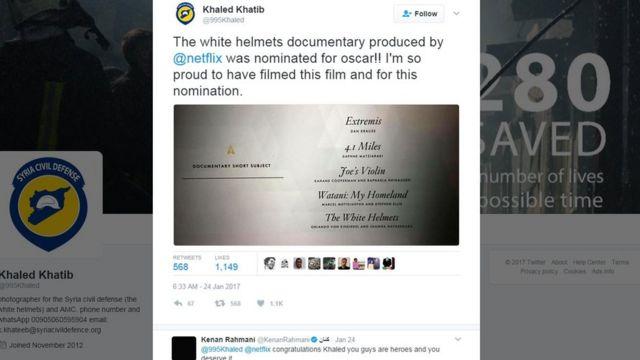 خالد خطاب کا ٹوئٹر پر پیغام
