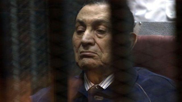 Hosni Mubarak aliposimamishwa kizimbani 2014
