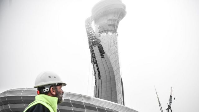 Istanbul's new airport control tower