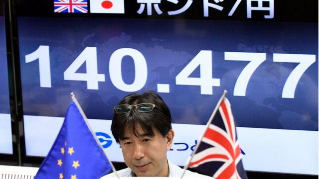 Cotización de la libra en yenes después del Brexit