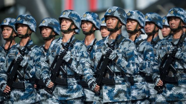 Soldados del Ejército chino.
