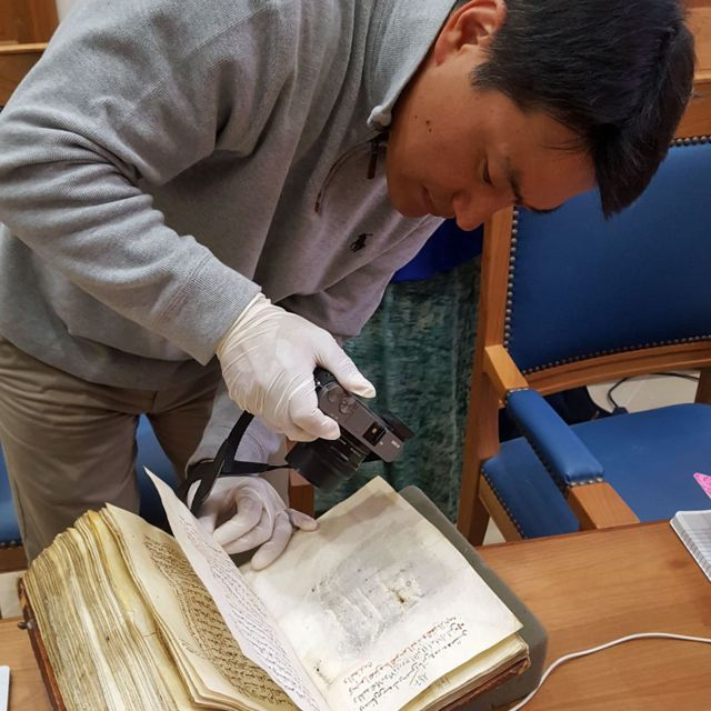 Hidden writing in ancient desert monastery manuscripts