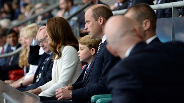 Герцог и герцогиня Кембриджские и принц Джордж