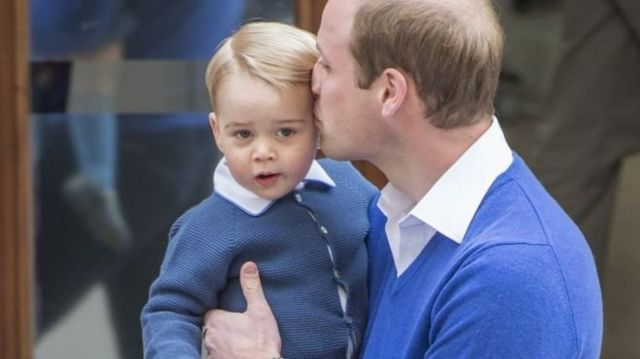 On 2 May 2015, George's sister Princess Charlotte was born. The same day, he arrived at St Mary's Hospital to meet his younger sister.