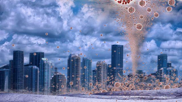 Graphic allusive to the coronavirus pandemic