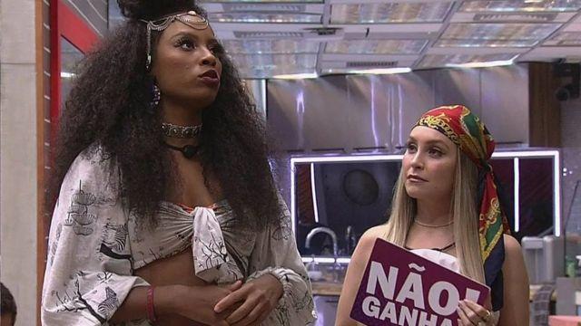 Lumena e Carla Diaz no ar ao vivo no BBB21