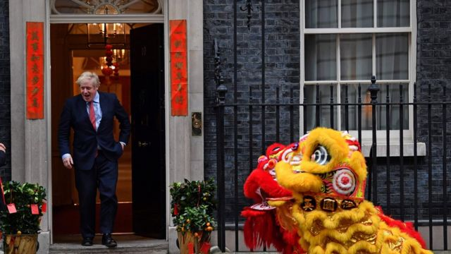 Boris Johnson celebrates Chinese New Year in January