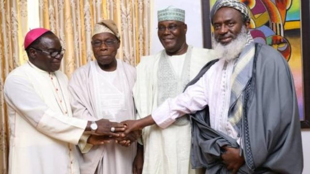 Kukah, Obasanjo, Atiku ati Gumi