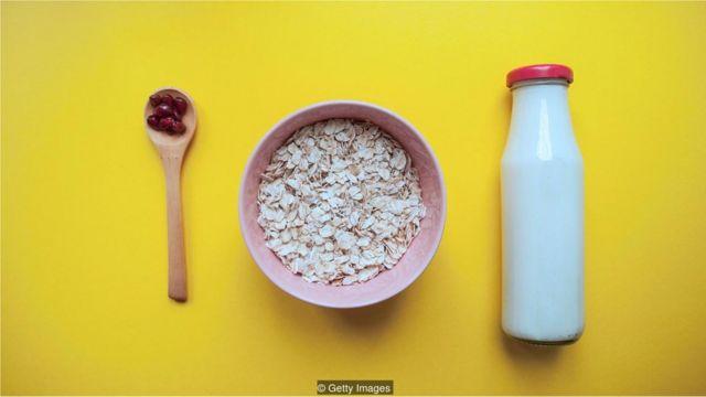 leite e cereal