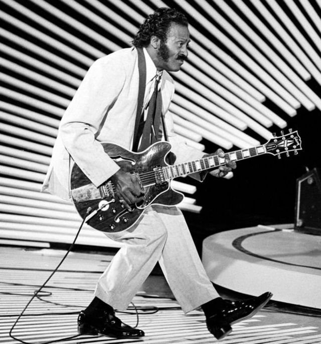 Chuck Berry doing the duck step.