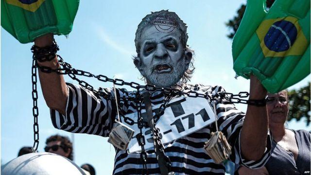 Protesta contra Lula da Silva