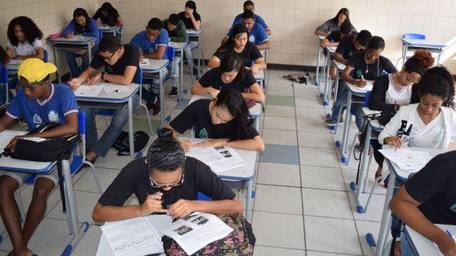 Simulado do Enem em Salvador, em 2016