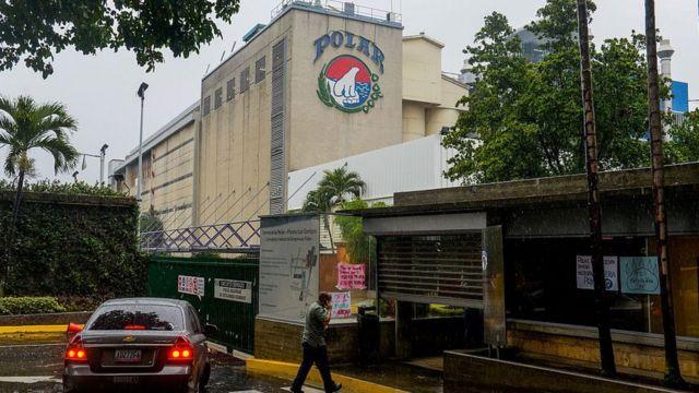Planta de empresas Polar en Caracas.