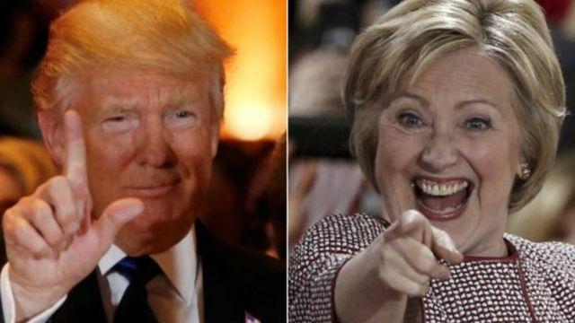Trump na Clinton batsinze muri New York