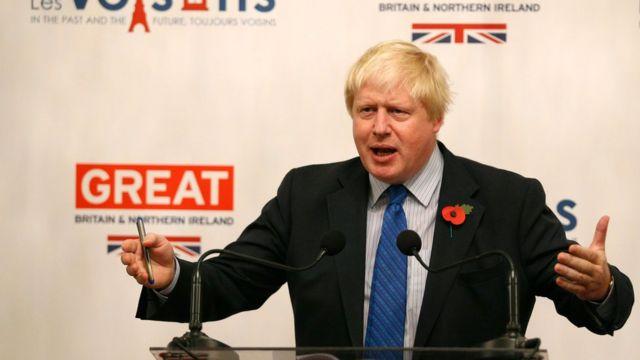 นายบอริส จอห์นสัน รัฐมนตรีว่าการกระทรวงการต่างประเทศสหราชอาณาจักร