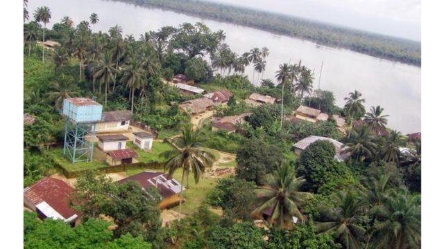 Une vue aérienne de Bakassi prise en 2008
