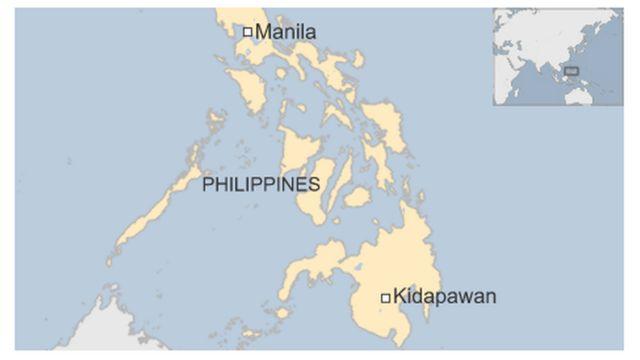 Ikarata y'igisagara ca Kidapawan muri Philippine
